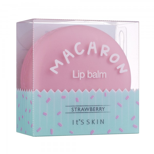 It's Skin Macaron Lip Balm  01 Strawberry